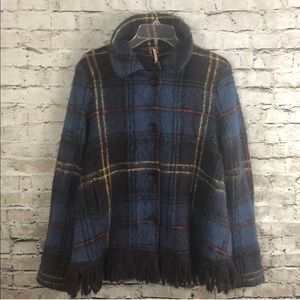 FREE PEOPLE PLAID COAT SZ SMALL